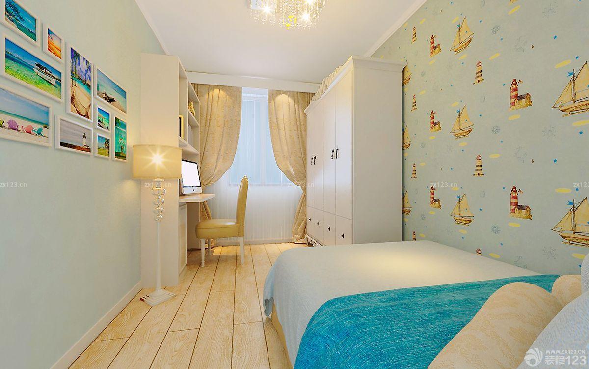 紧凑田园风格儿童房小卧室装修设计效果图欣赏