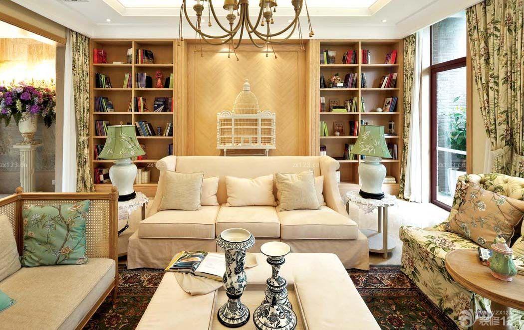 2016简欧乡村风格欧式沙发背景墙装修设计图片大全