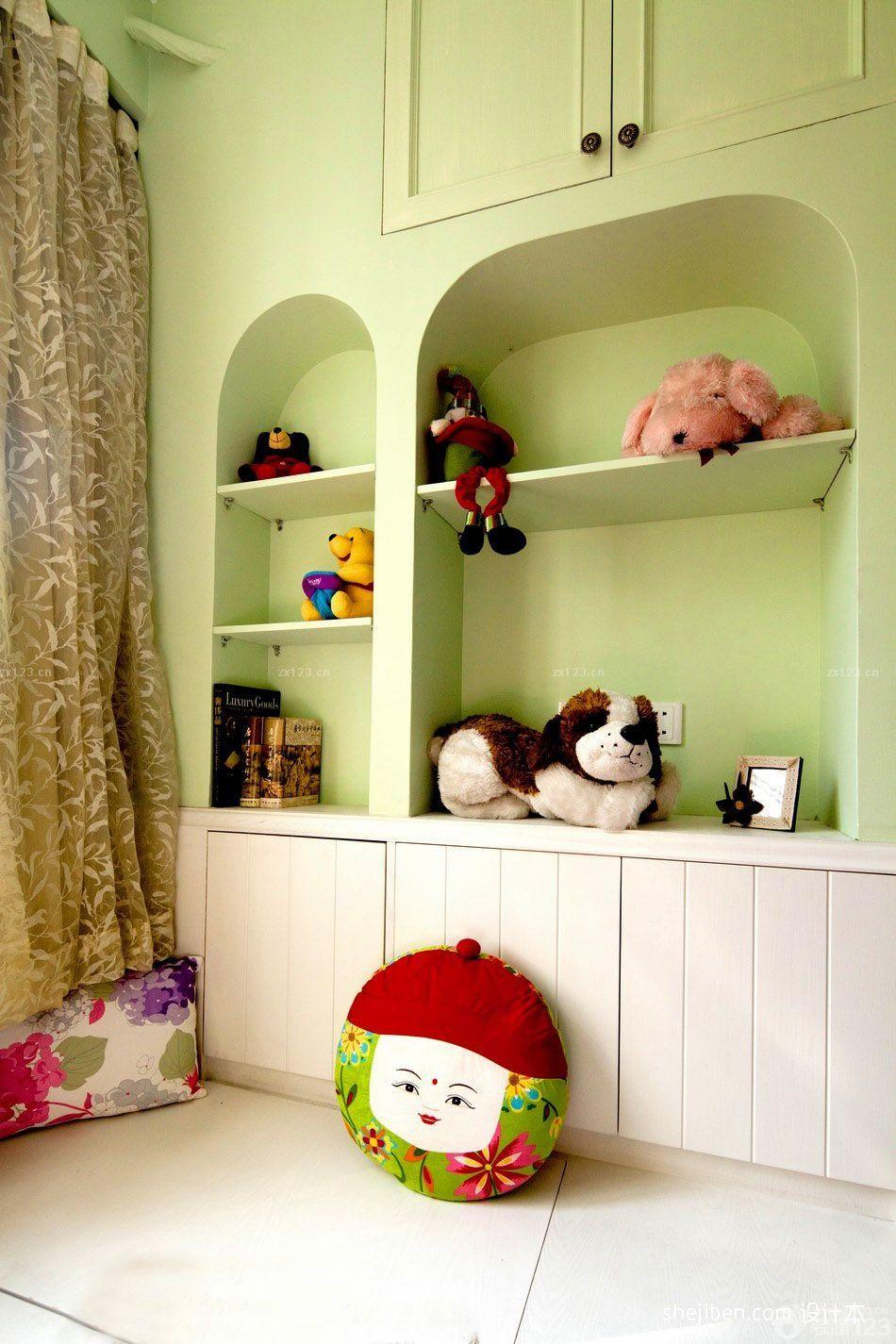 欧式儿童房储物柜装修设计图片大全