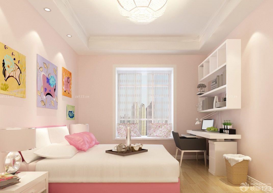 欧式儿童房卧室兼书房装修设计图片欣赏