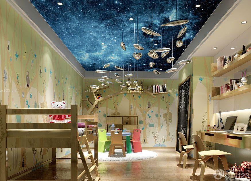 2016创意儿童房间手绘墙画设计图片