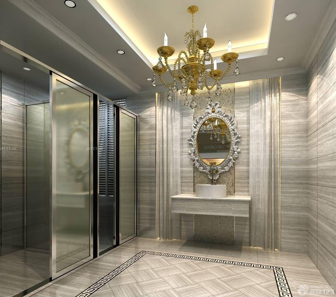 【豪華酒店客廳浴室東鵬瓷磚裝修效果圖片大全