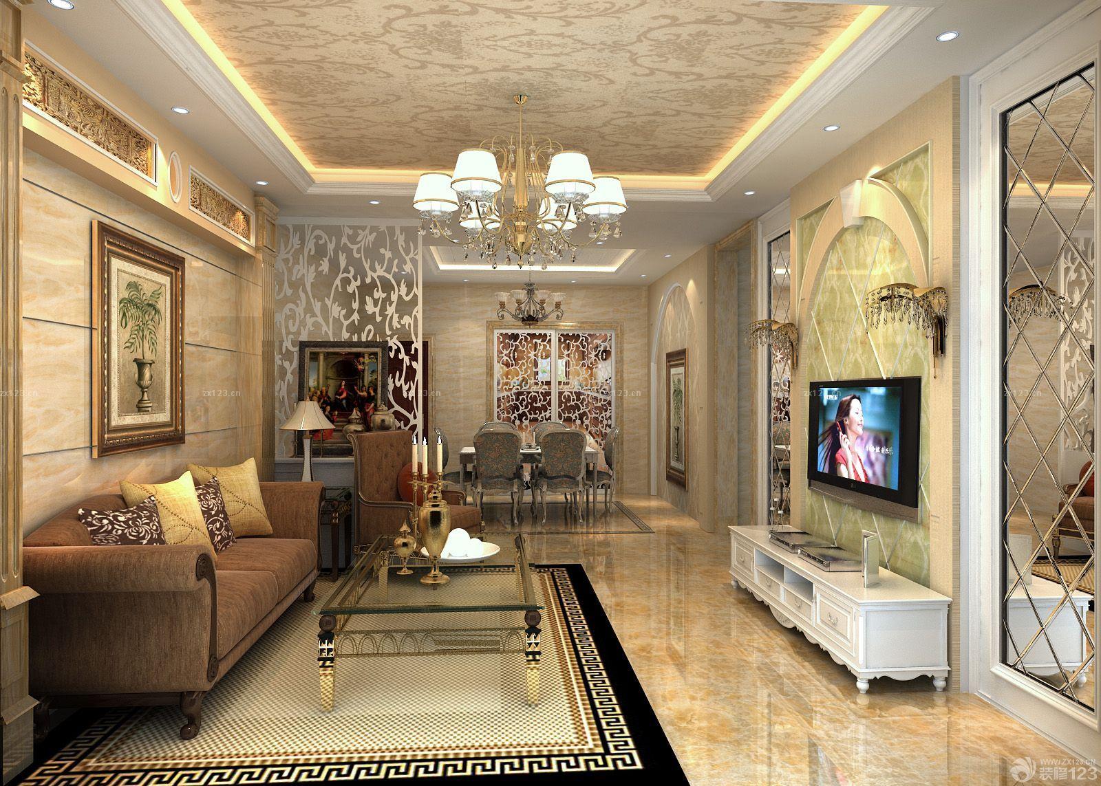 欧式家装客厅东鹏瓷砖装修效果图