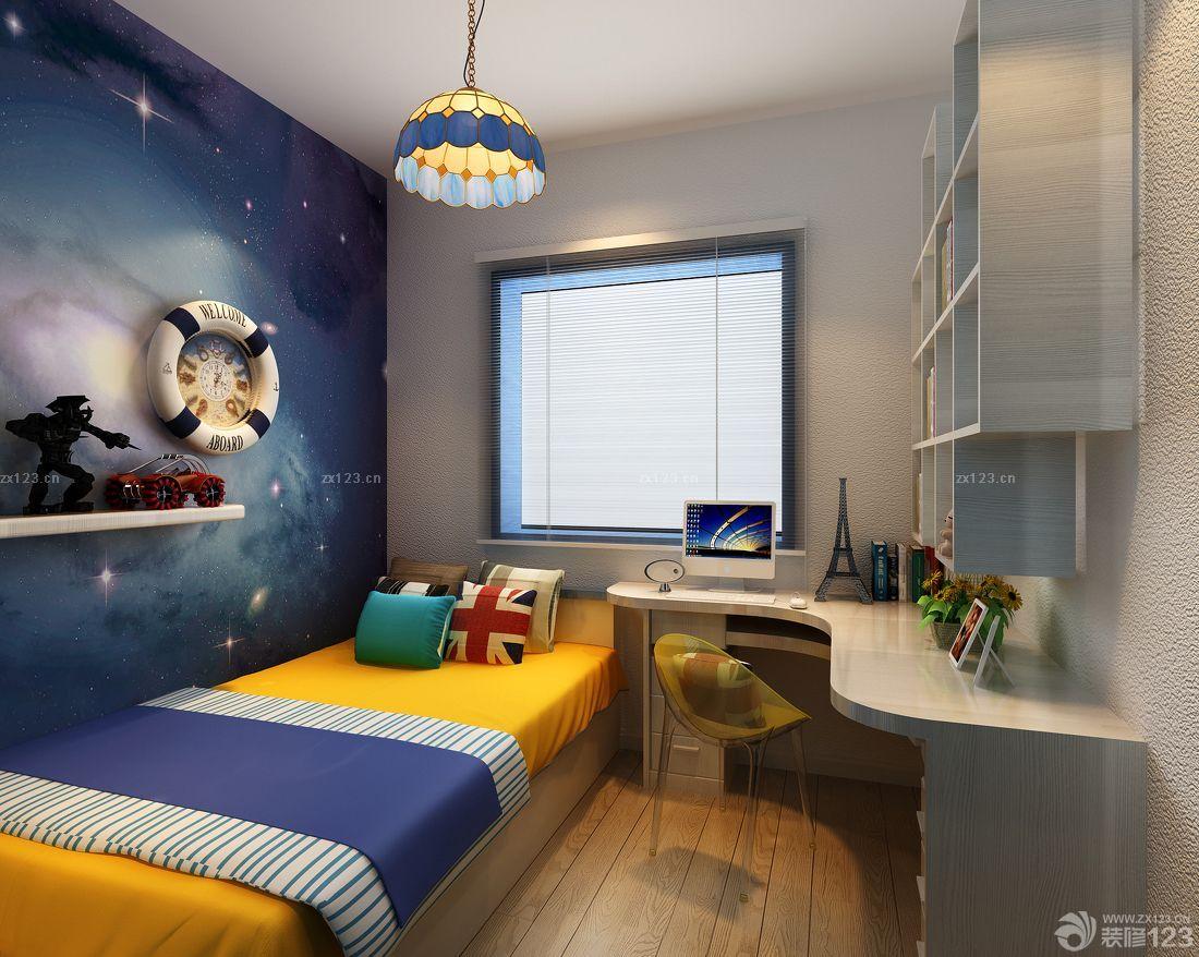 地中海风格儿童房男生卧室装修设计图片大全