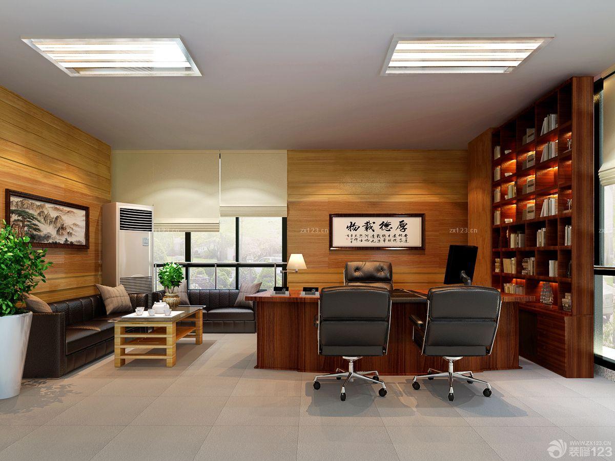 中式小型办公室格栅灯设计图片大全