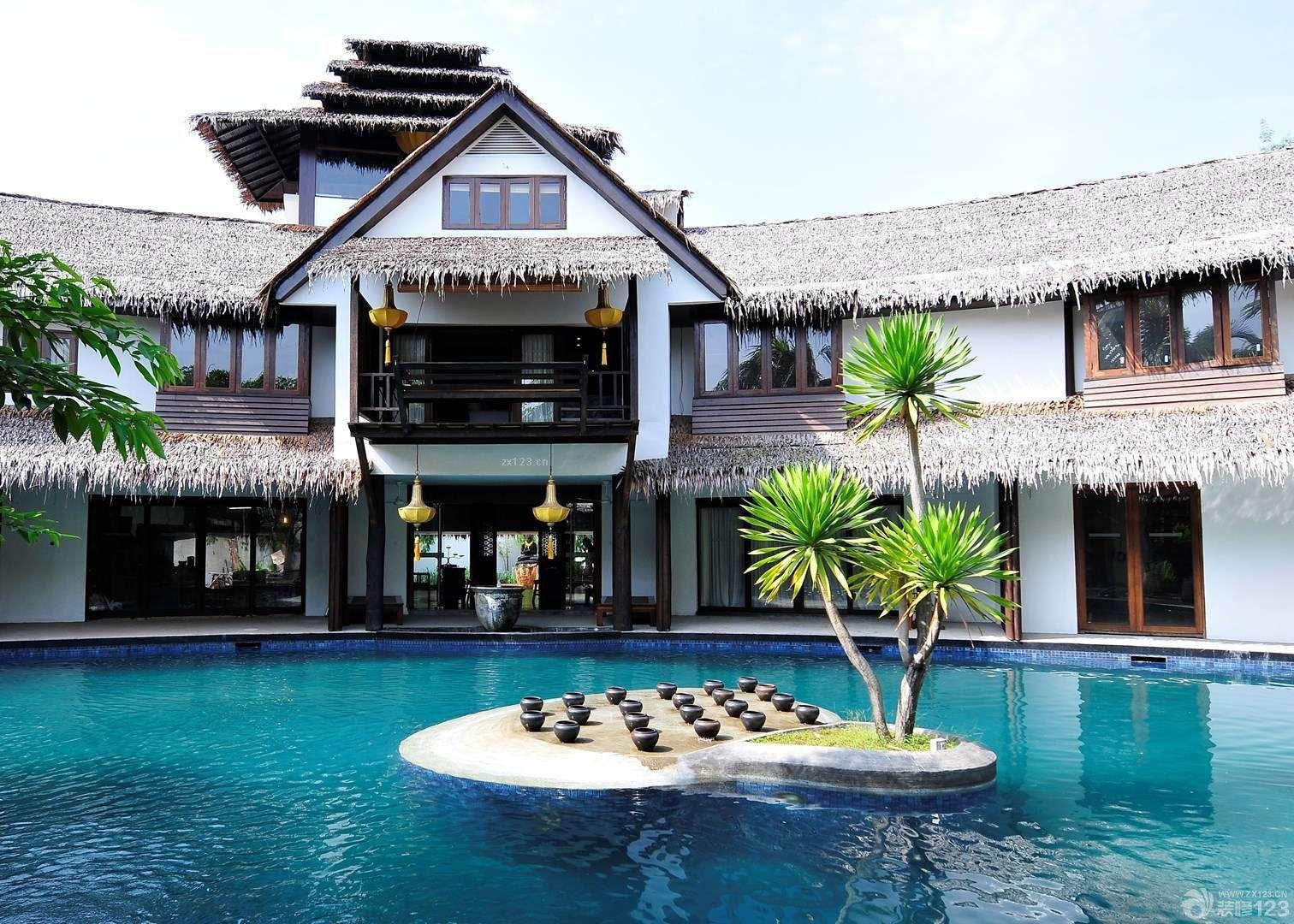 東南亞風格別墅外觀設計實景圖