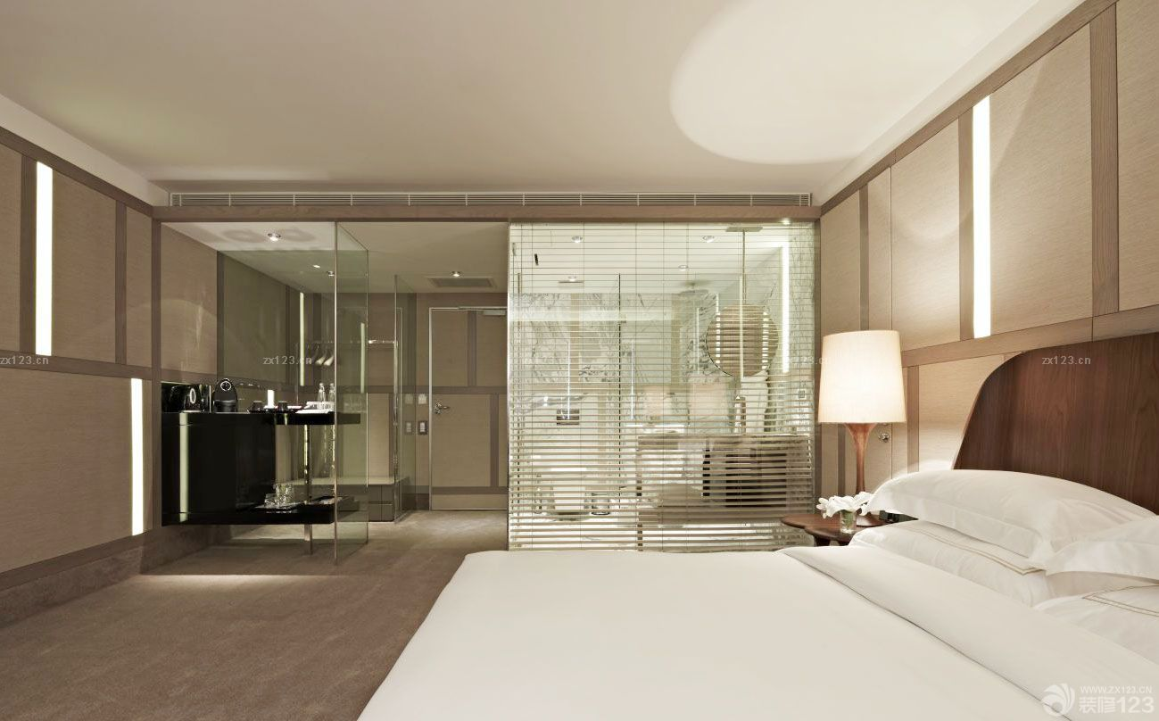 酒店式公寓主卧室卫生间装修图片