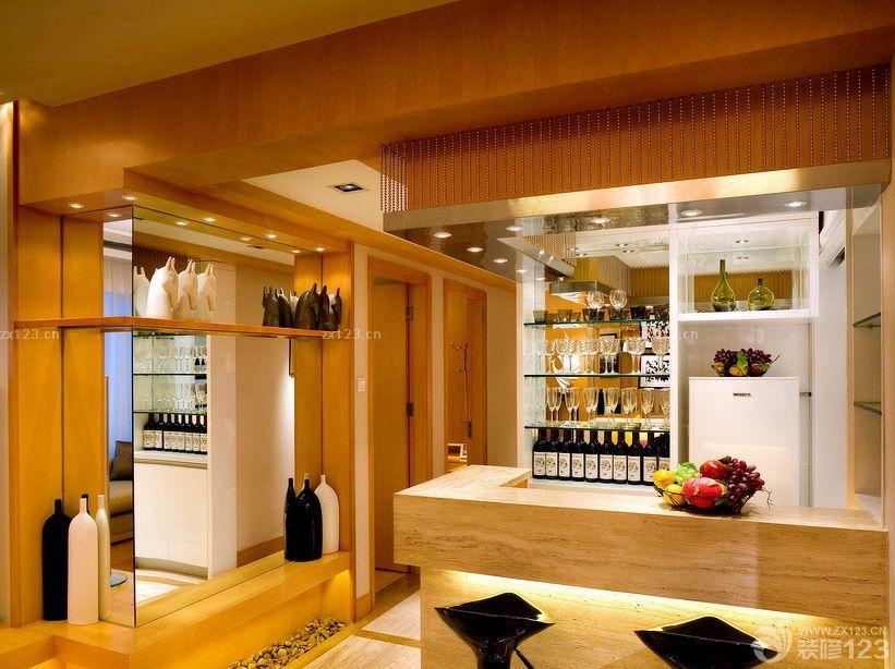 2015精装修房子家庭吧台设计效果图欣赏