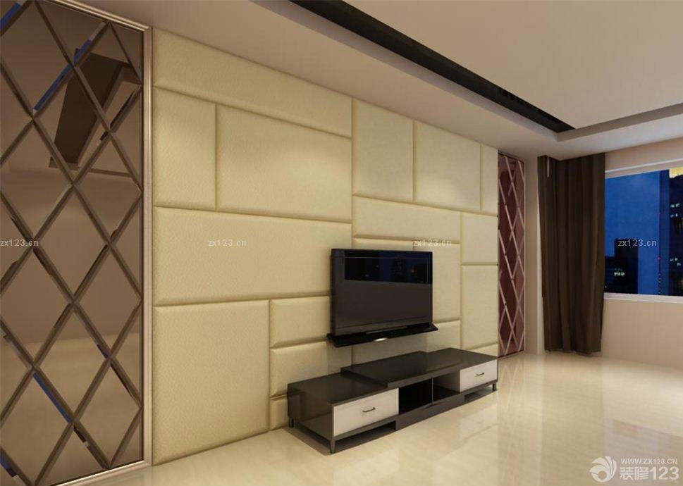 最新软包电视背景墙壁纸装修效果图欣赏