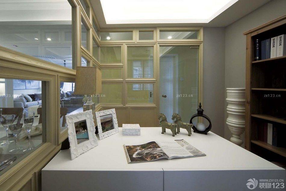 现代简欧风格书房隔断设计效果图欣赏