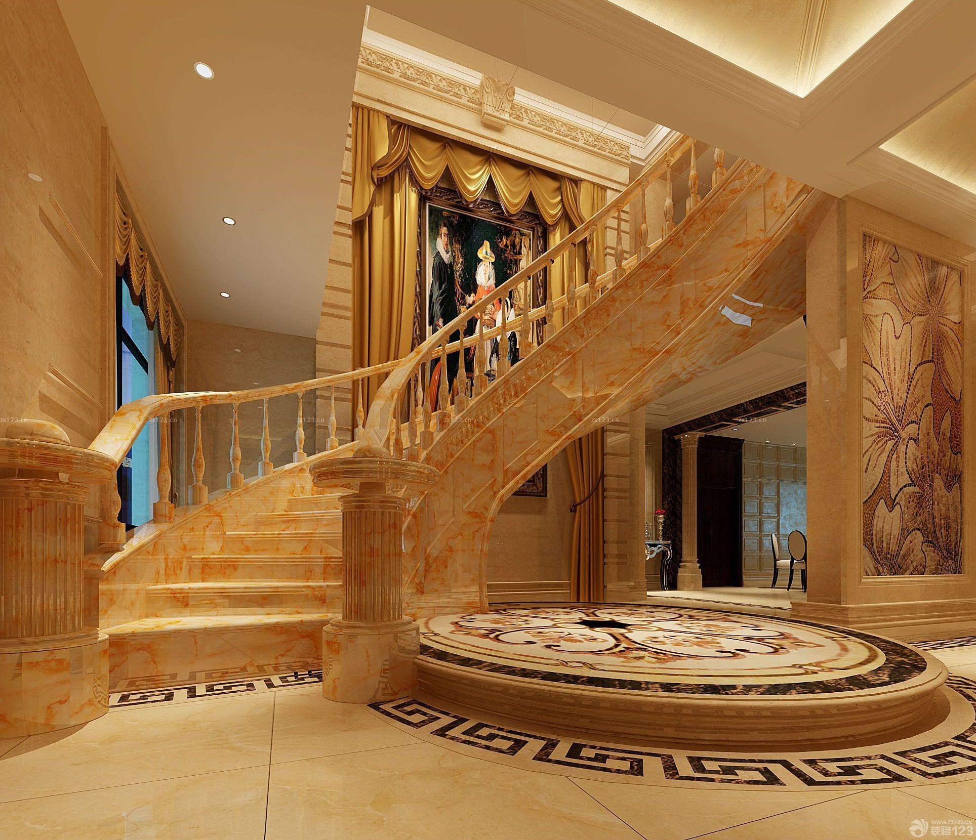 世界豪宅室内楼梯设计效果图欣赏