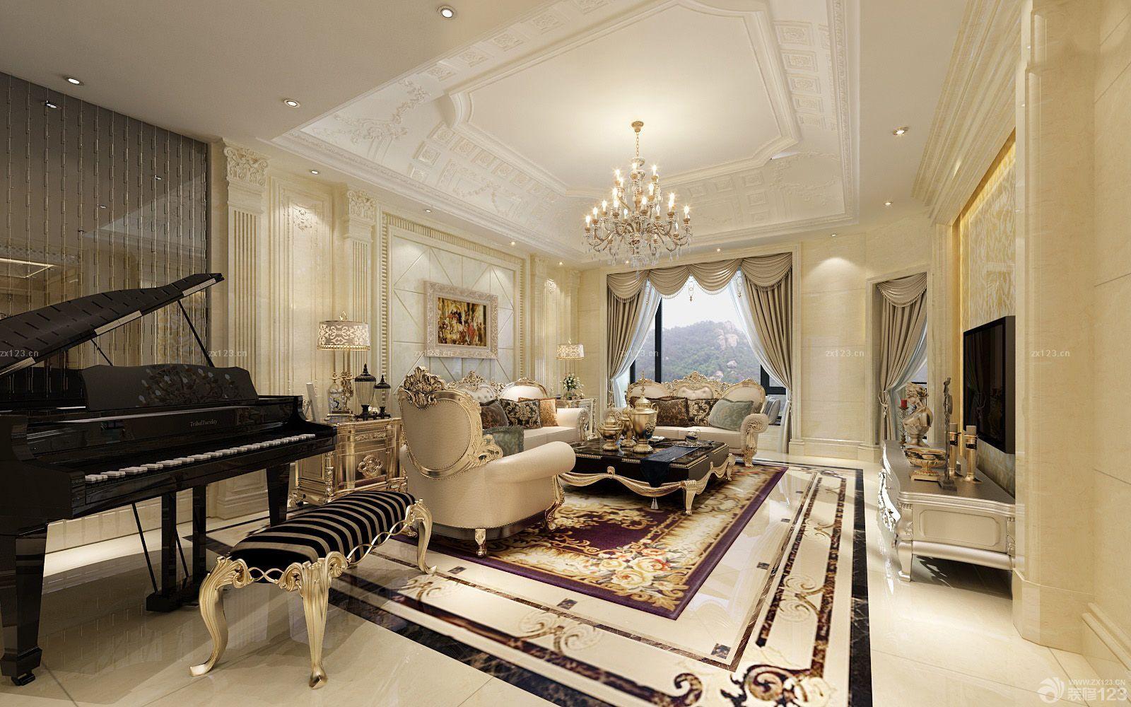 欧式家装样板间_最新欧式风格130平米三室一厅室内创意组合家具装修样板间_设计 ...