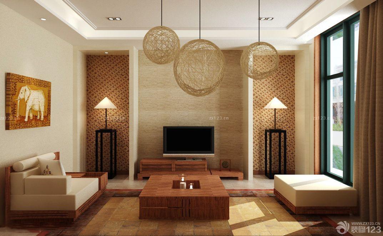 简欧式120平米客厅装修效果图大全