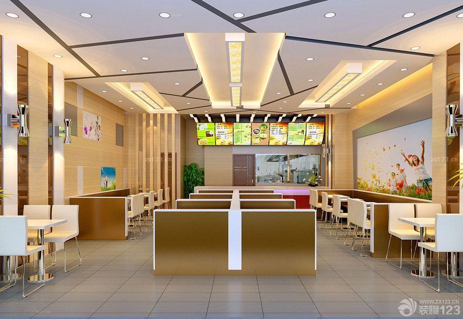 最新特色快餐店商铺装修设计图大全