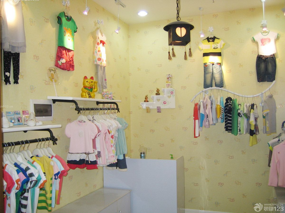 童装店商铺可爱风格装修设计图片_2016室内装修效果图