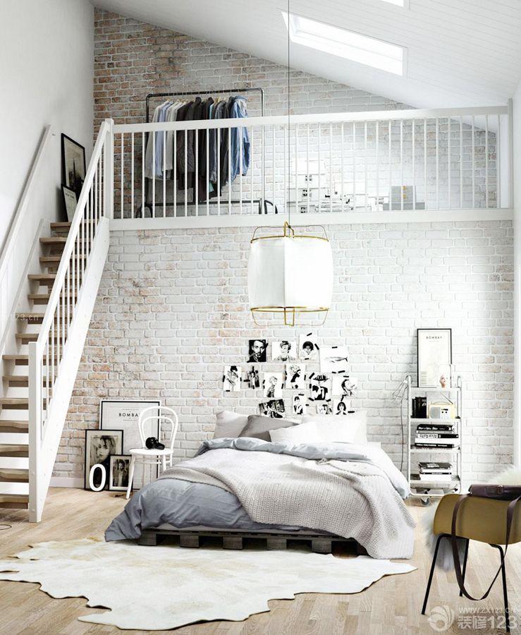100平方带阁楼栏杆扶手装修效果图片大全