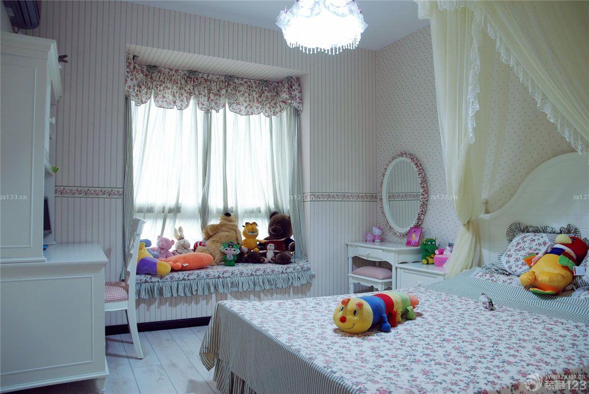 大型美容院窗帘布艺装修效果图片