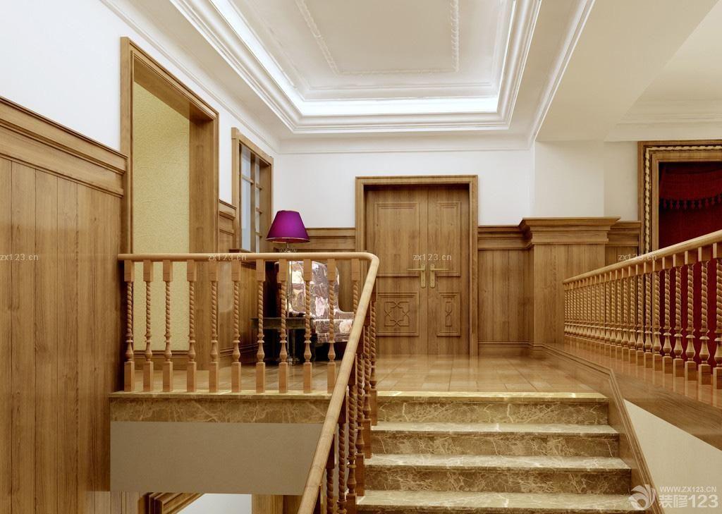 小复式楼自建房楼梯装修设计效果图片