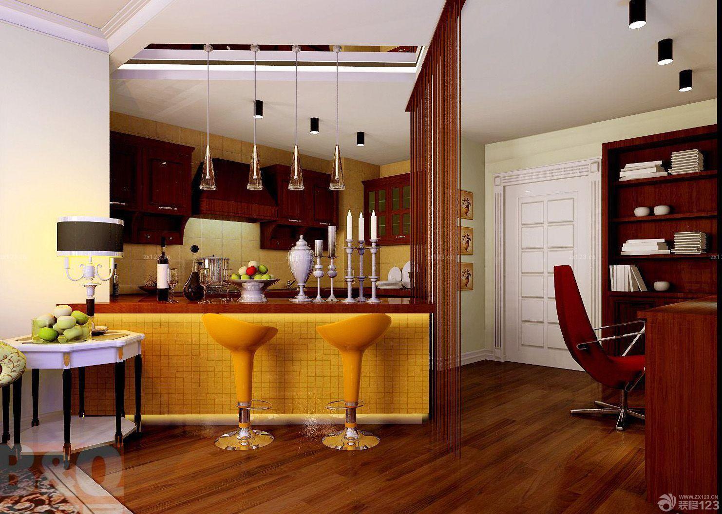 复古欧式风格厨房设计图样板