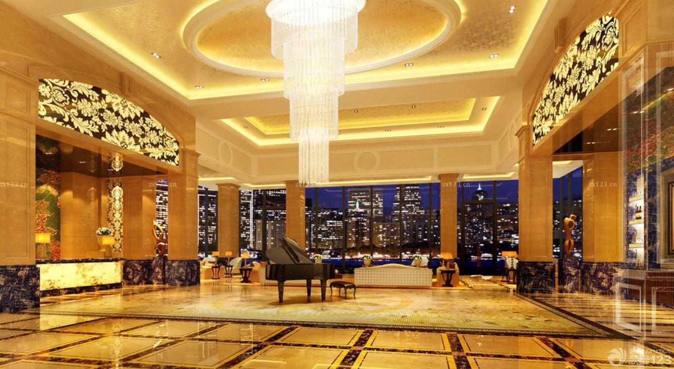 豪华酒店大厅吊顶装修效果图片大全