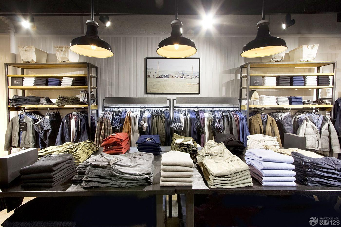 2015服装店面服装陈列最新装修设计样板大全