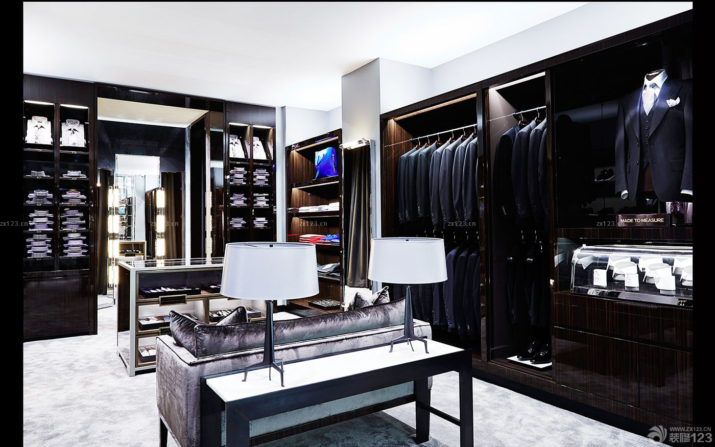 时尚男装店面服装陈列设计效果图大全