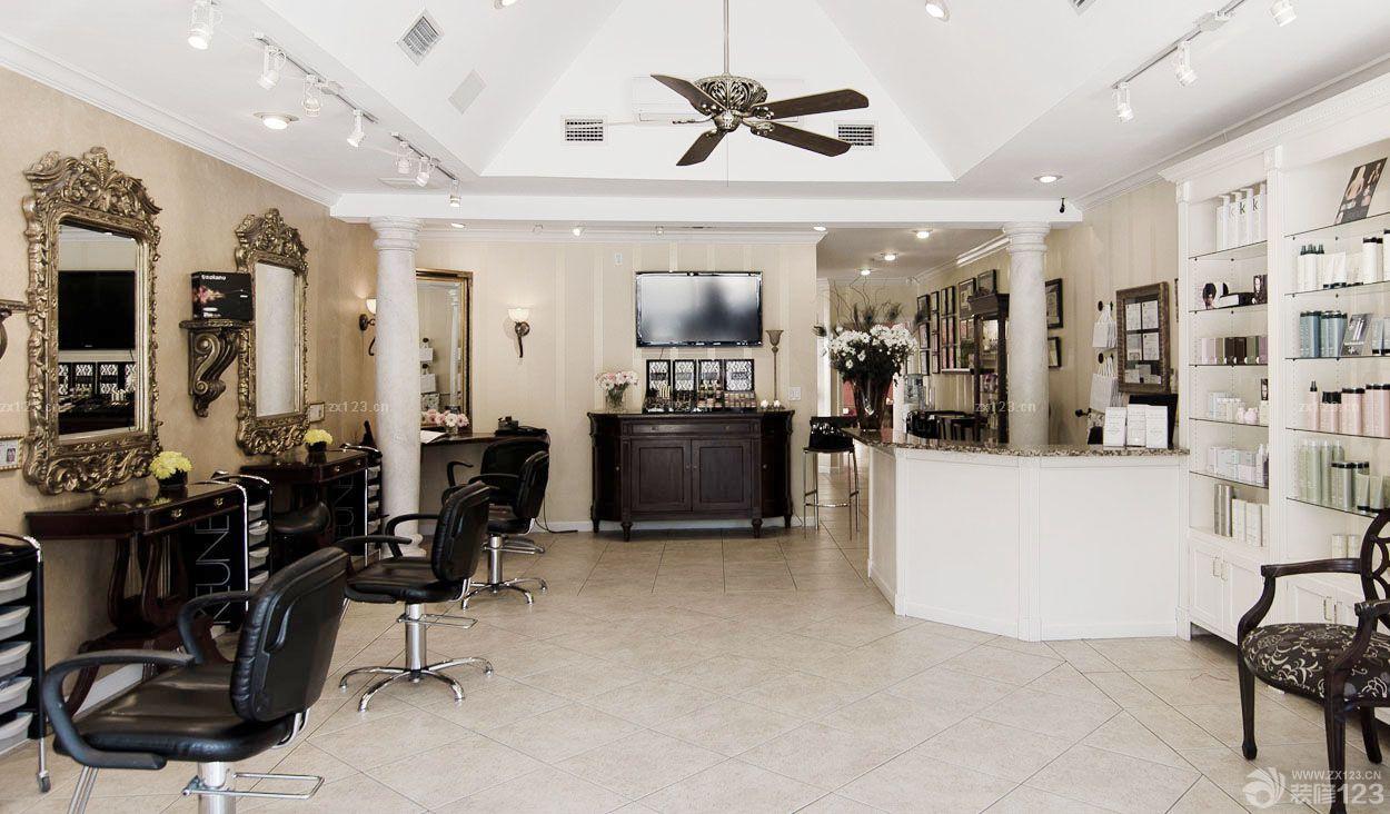 简约欧式风格60平方小型美发店装修效果图