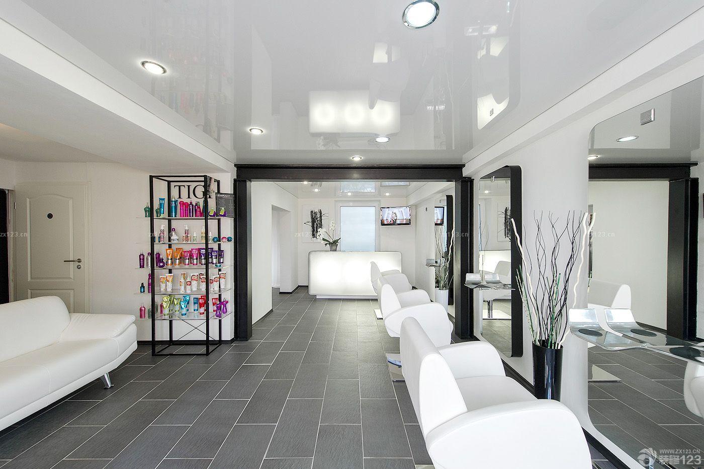 60平米美发店装修风格分享展示