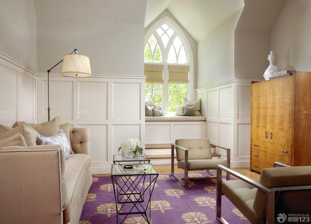 古典欧式风格斜顶阁楼装修效果图片