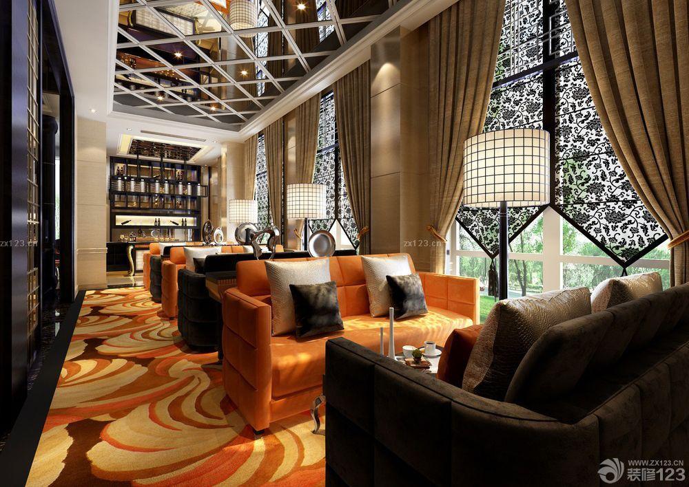 装修效果图 家居设计 最新时尚咖啡店沙发靠背装修样板大全