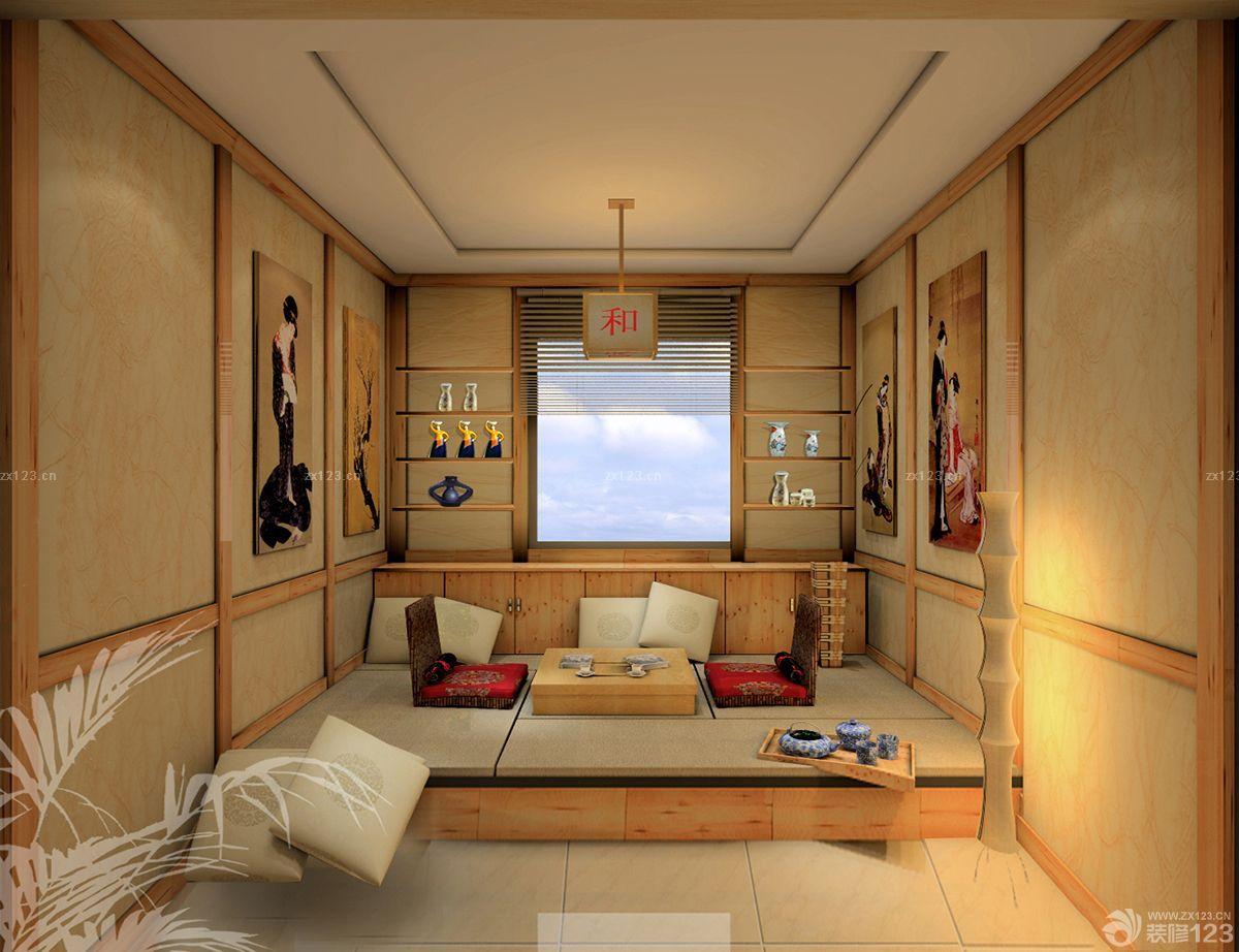 日式家装风格阳台榻榻米装修效果图欣赏