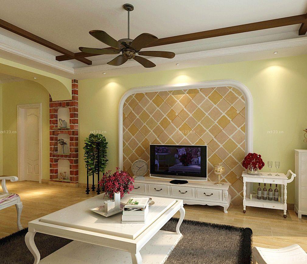 【白色北欧风格客厅沙发背景墙装修效果图