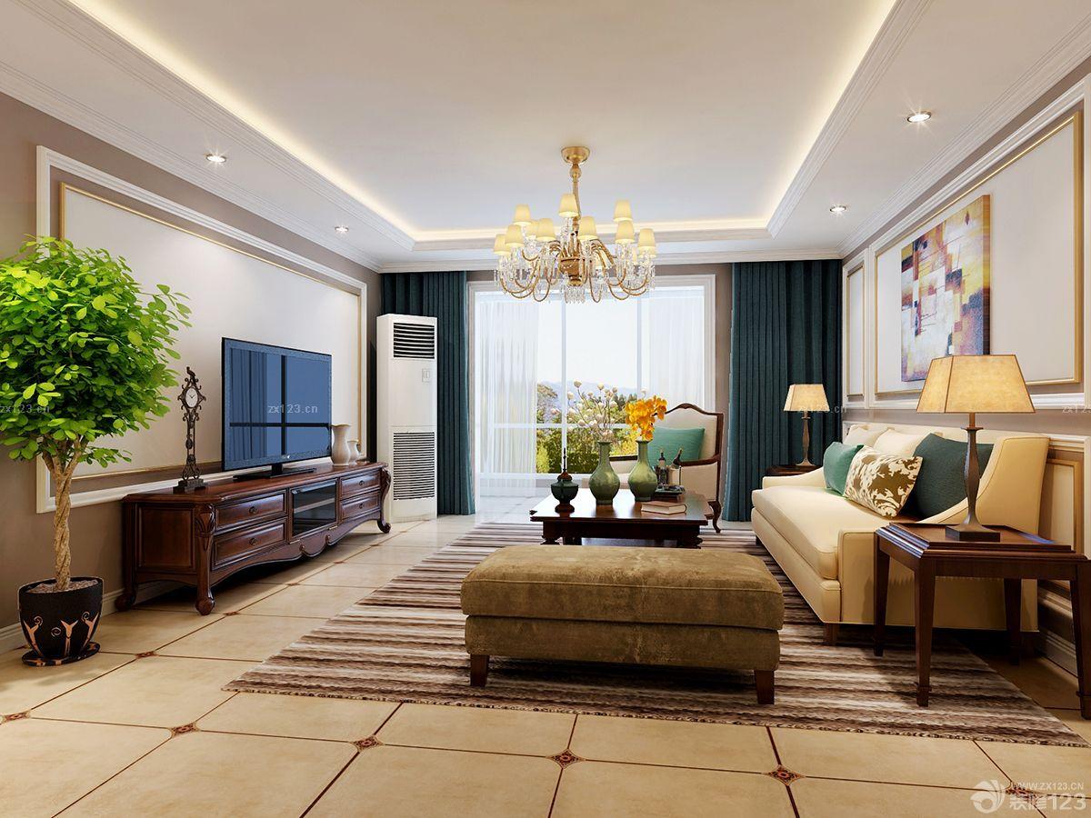 最新房子室内客厅装修现代简约欧式风格