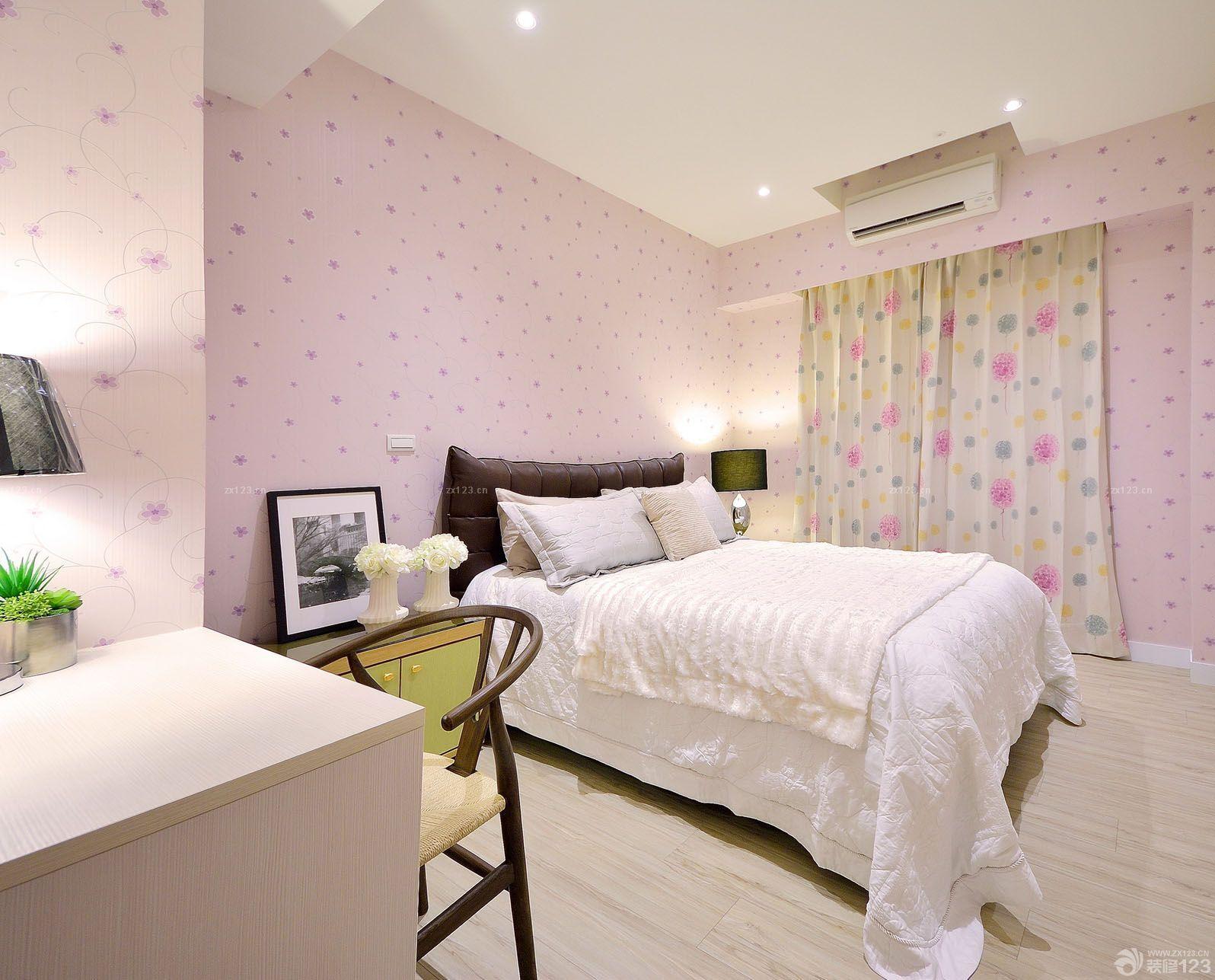 三室一厅一卫90平米房屋卧室壁纸装修效果图