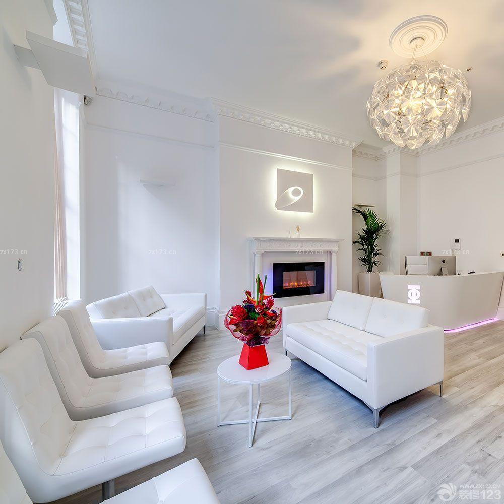 最新简约欧式美容院白色墙面装修效果图欣赏