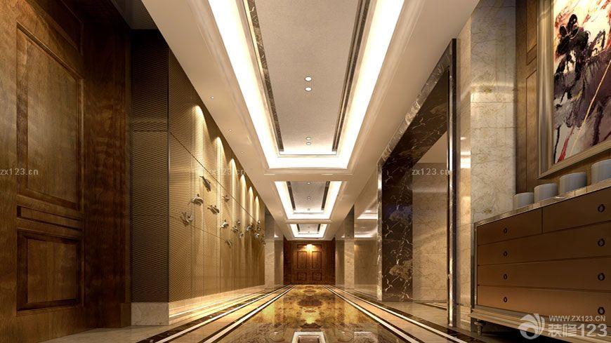 大理石地砖走廊玄关装修效果图片大全