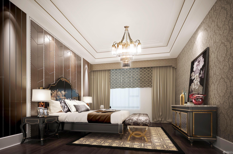 80平米房子主卧室窗帘装修样板_设计456装修效果图