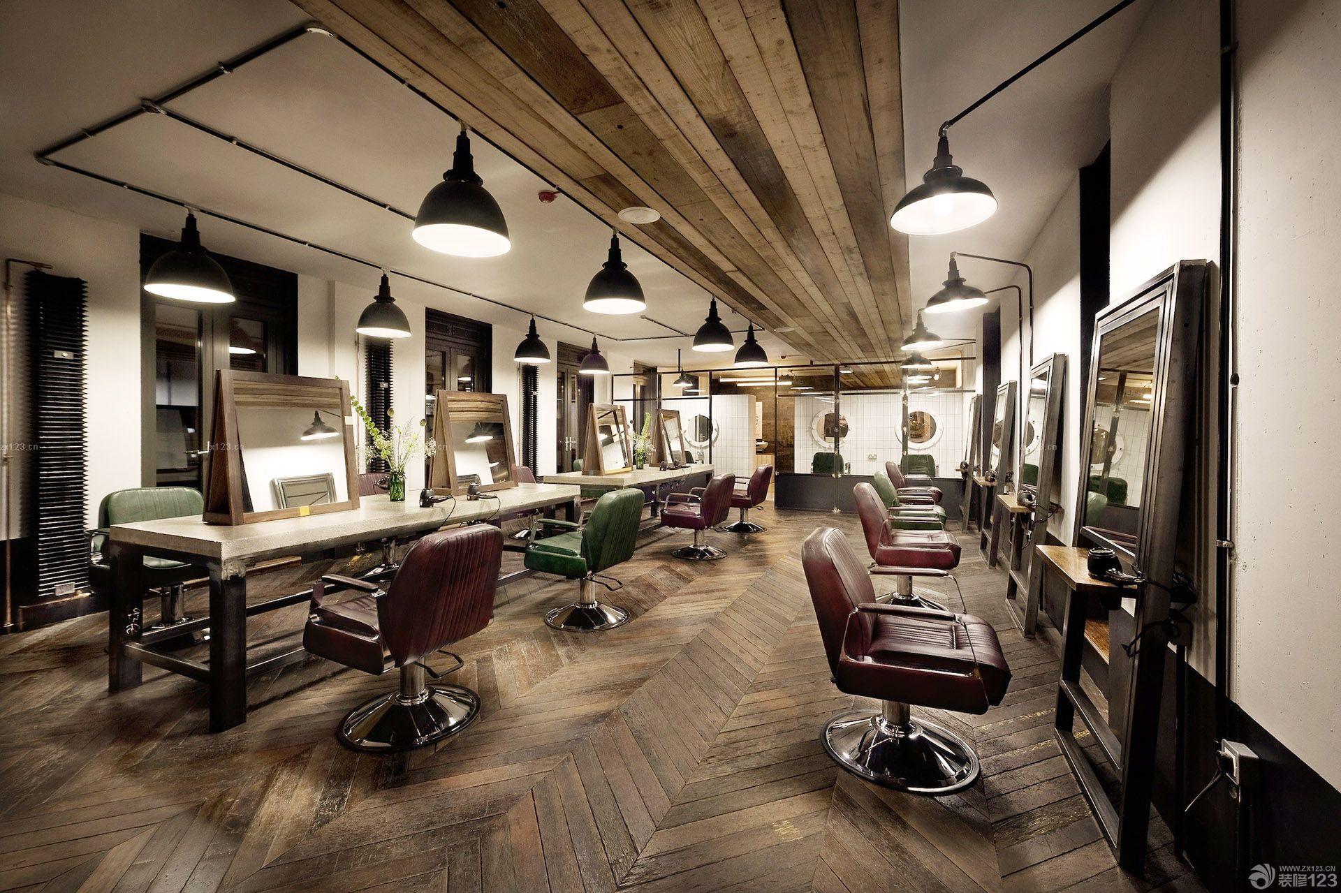 45平方美发店装修图分享展示