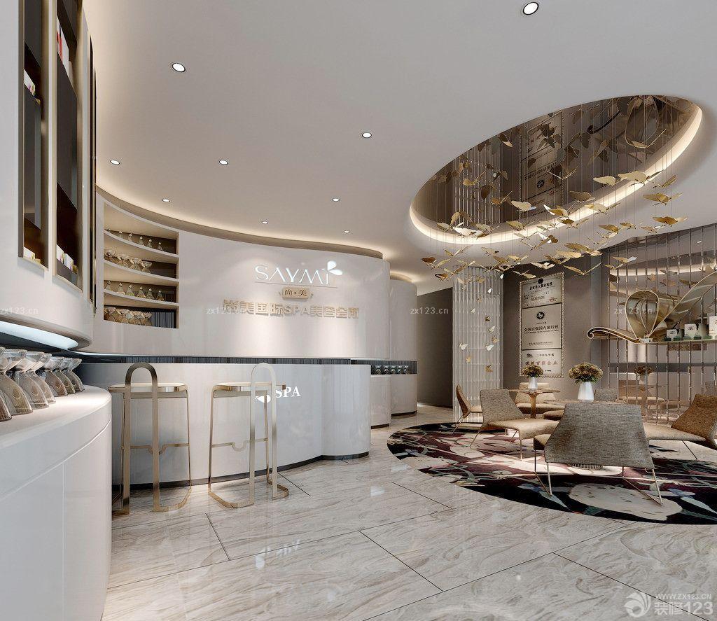 装修效果图 家居设计 最新80平方的美容院大厅吊顶装修图片大全