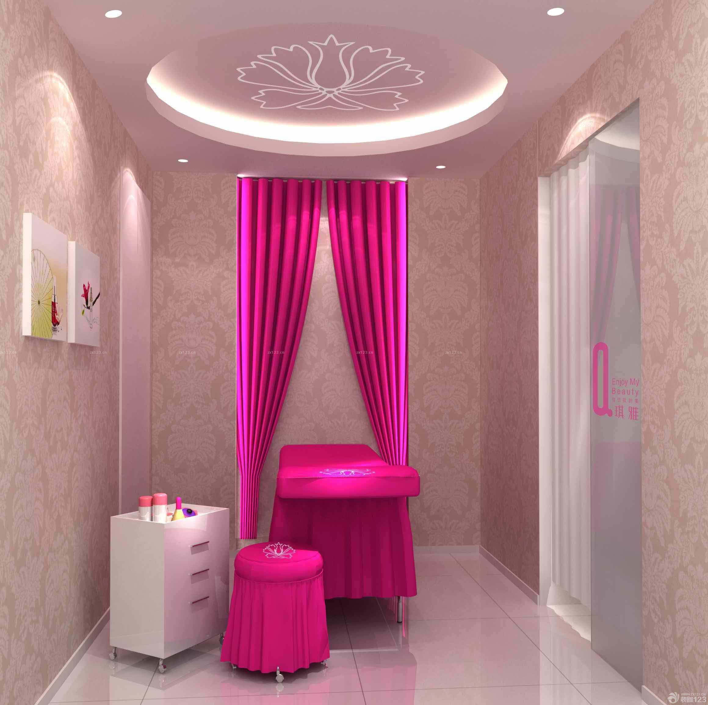 简洁80平方的美容院装修效果图片欣赏2015