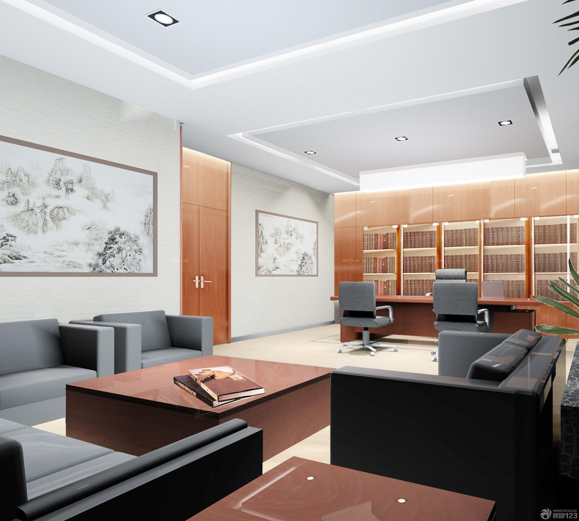 最新90平米办公室最新室内装修图片欣赏