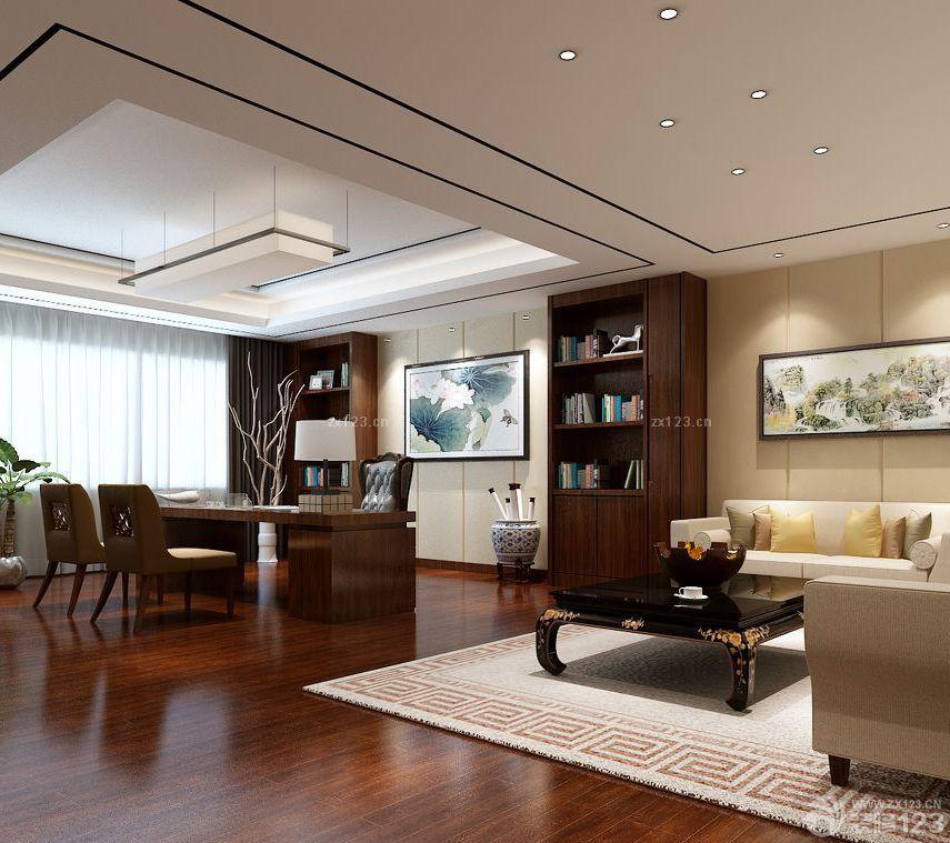 装修效果图 家居设计 2016中式风格90平米办公室装修图片