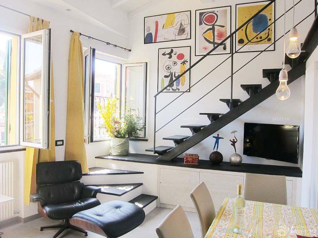 唯美小户型复式楼梯设计效果图 设计456装修效果图