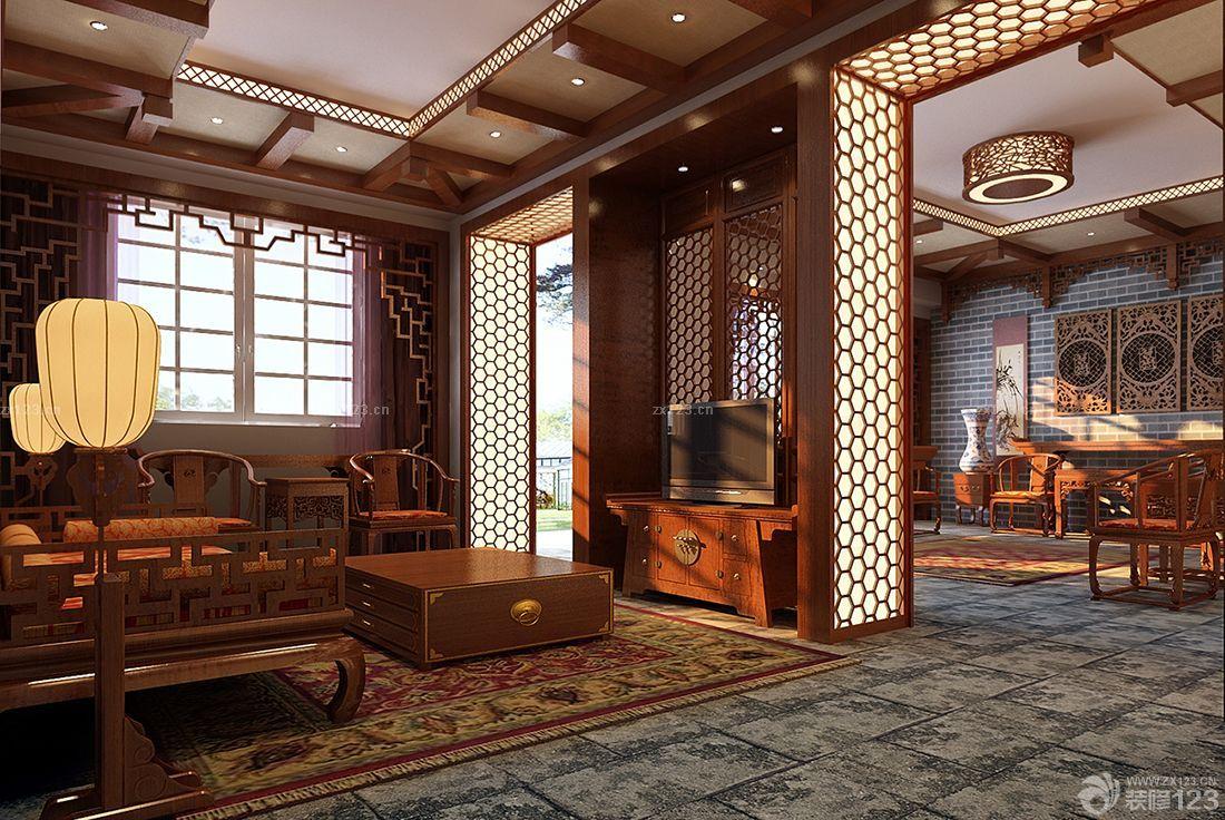 装修效果图 家居设计 最新休闲木屋别墅新中式家具装修图片大全图片