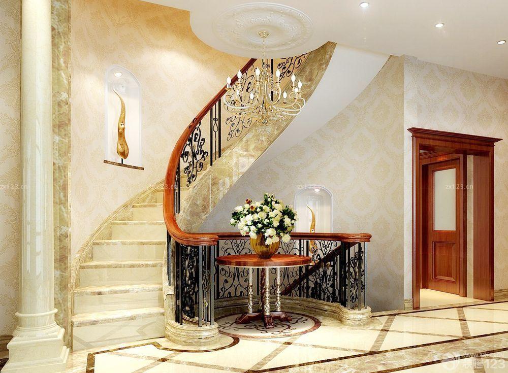 经济型别墅室内楼梯设计图_2016室内装修效果图_设计