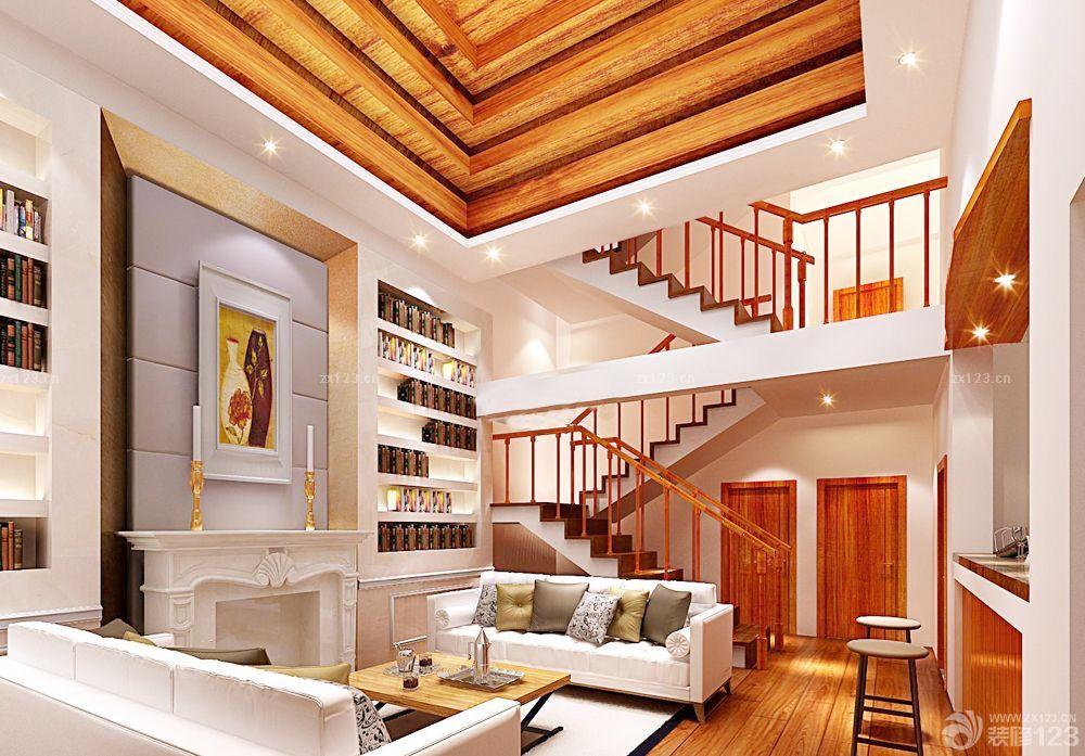 欧式别墅室内石膏板吊顶装修效果图