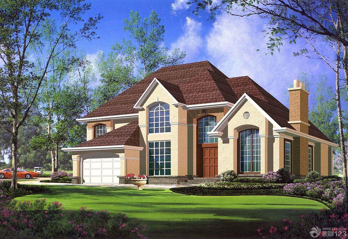 最新美式古典风格乡村别墅外观设计图片大全