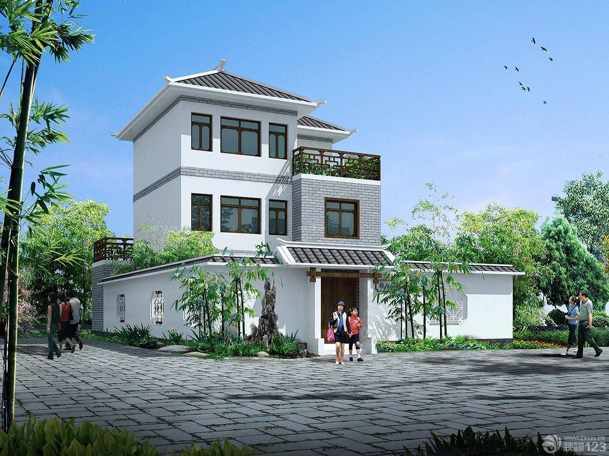 乡村中式家装别墅外观设计图片大全