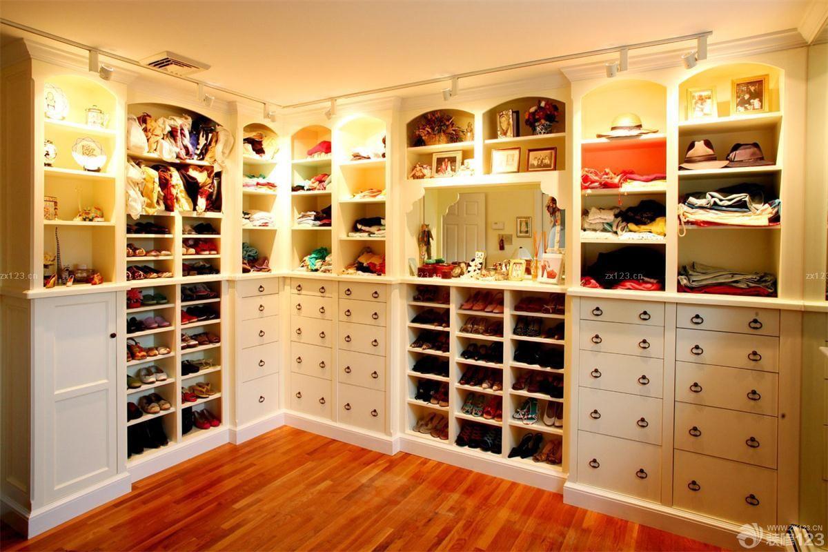 家装欧式风格衣帽间鞋柜装修效果图欣赏