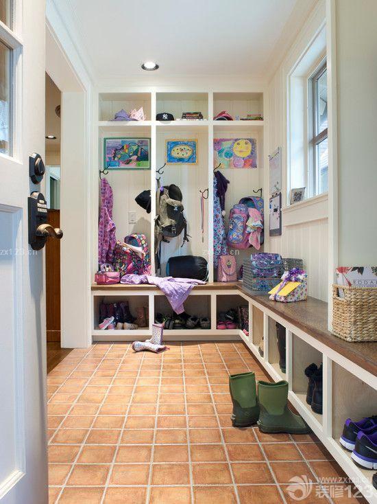 最新现代房屋一进门鞋柜装修效果图片